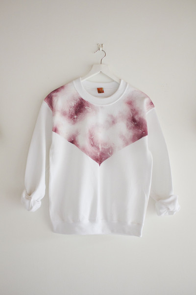 Hand Painted Signature Galaxy Sweater (White) – We Are Hairy People