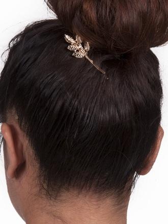 hair accessory leaf hair clip accessories