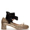 Glitter block-heel ballet pumps | miu miu | matchesfashion.com us