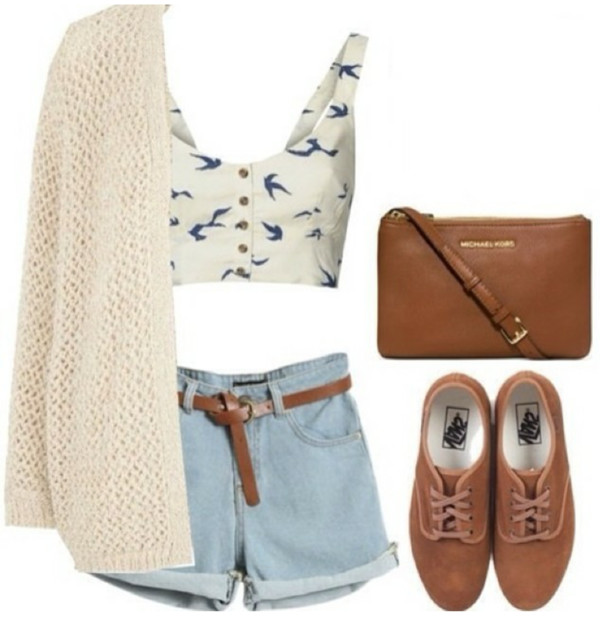 shoes shorts sweater