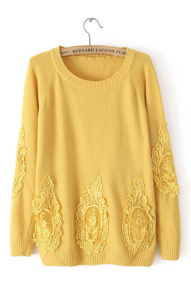 Autumn & Winter New Section Lace Rabbit Hair Sweater,Cheap in Wendybox.com