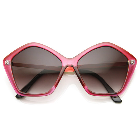 Retro Women's Sunglasses Fashion Geometric Shape Frame 8909                           | zeroUV