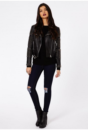 Aliandre Ripped Skinny Jeans - Jeans - Missguided
