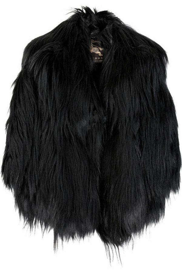 jacket fur goth glamour grunge black faux fur goth coat fashion faux fur jacket burberry