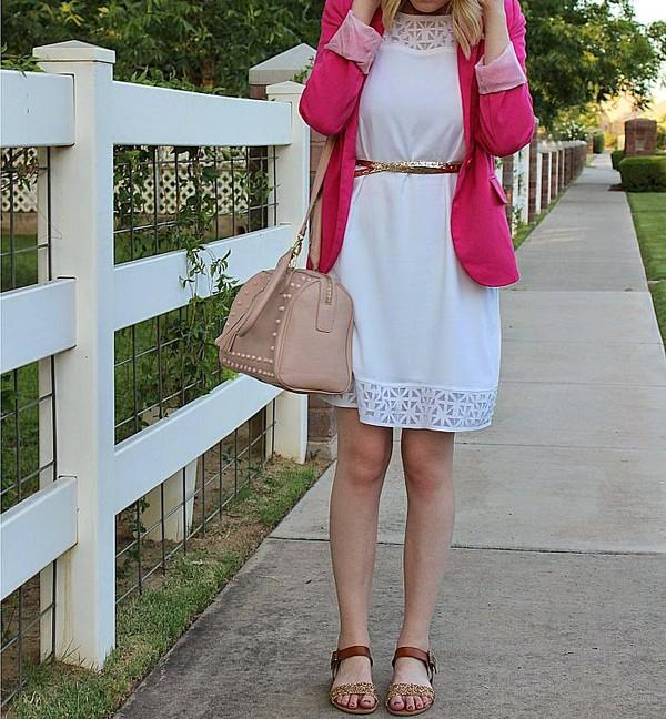 fashion flirtation dress jacket belt shoes bag