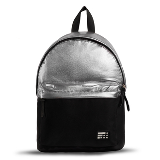 bag silver backpack bicolor bicolor backpack black and silver silver and black metallic backpack metallic bag rucksack girly backpack girly bag black backpack black bag black rucksack two color backpack silver rucksack metallick rucksack backpack silver bag womens backpack fusion metallic accessories accessory