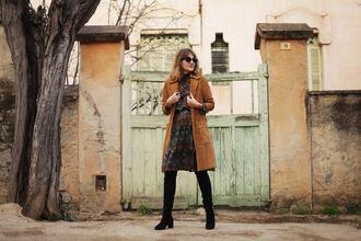 blogger dress coat shoes bag my daily style belt