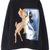 Black Deer Print Crew Neck Long Sleeve Sweatshirt | Pariscoming