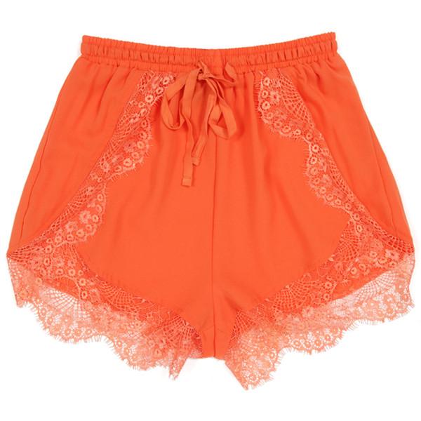 Sparrow Shorts Tangerine | Shop Shorts | Beginning Boutique - Polyvore