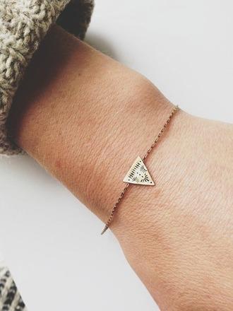 jewels bracelets jewelry stacking triangle print aztec design elegant gold small treasure indie hipster boho chic charm bracelet shorts belt thin friendship bracelet gold bracelet triangle bracelet cute bracelet