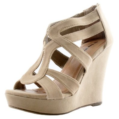 Amazon.com: Lindy 66 Strappy Open Toe Platform Wedge: Shoes