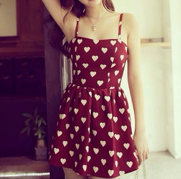 dress red dress red and white dress cute dress cute spagetti straps lobster bag