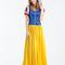 Snow white game uniform women halloween cosplay costume with hair band