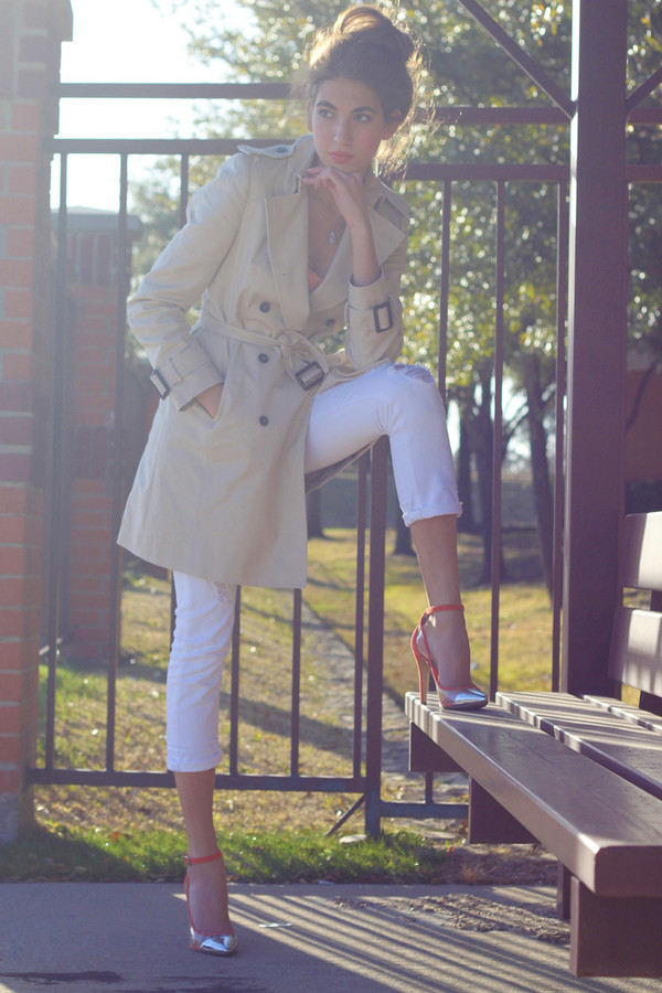 cool girl style shoes coat
