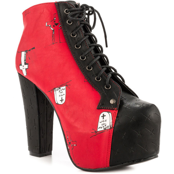 Iron Fist Wish List Plat Bootie - Red - Polyvore