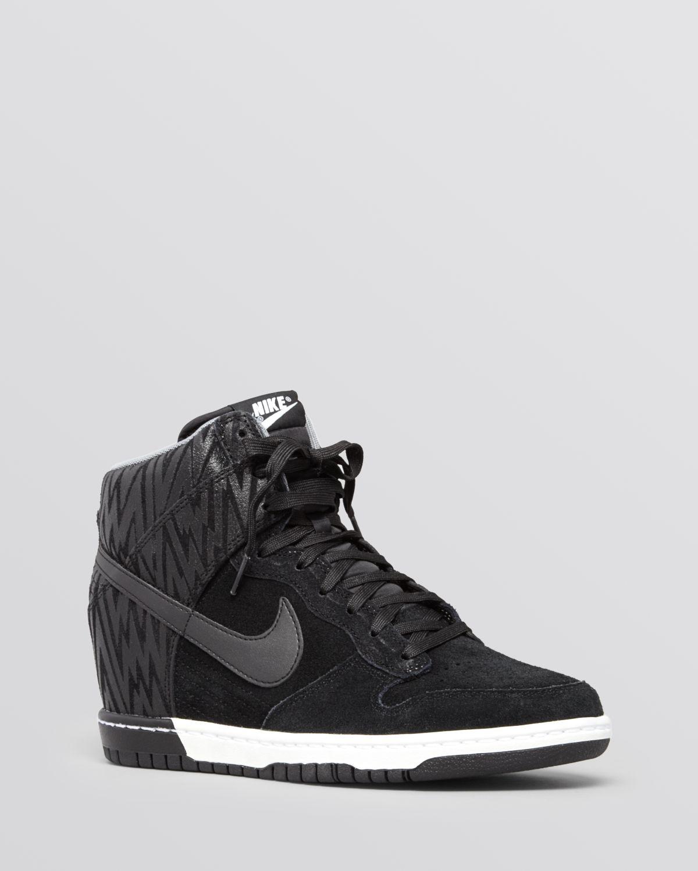 Nike Lace Up High Top Wedge Sneakers - Women's Dunk Sky Hi | Bloomingdale's