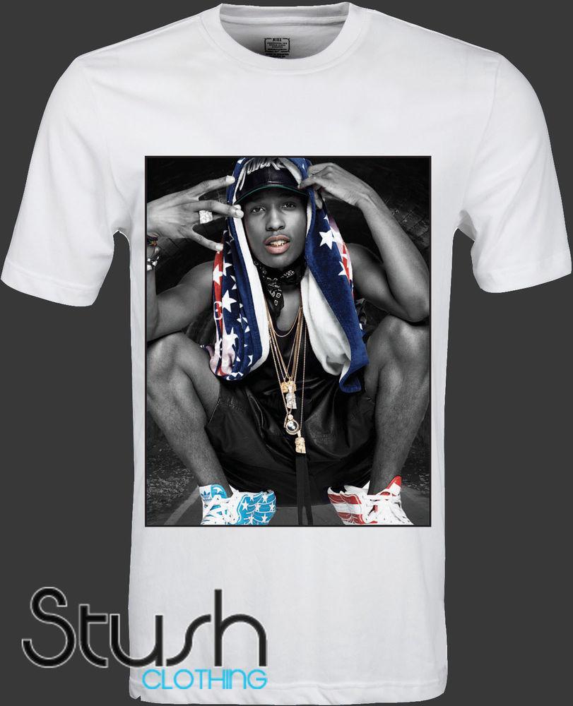 Men's New Stush Clothing ASAP Rocky Swag T Shirt s M L and XL | eBay