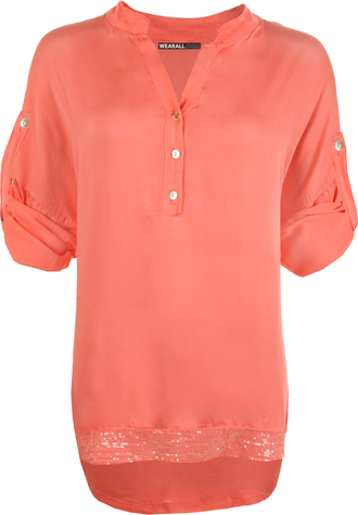 coral clothes accessories shirts top blouse default category
