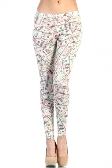 LoveMelrose.com From Harry & Molly | Multi Money Print Leggings