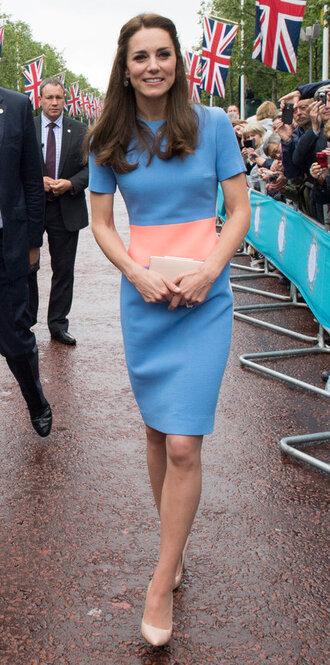 dress kate middleton pumps midi dress blue dress