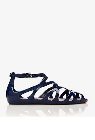Mel for Forever 21 Geo Mini-Wedge Sandals | FOREVER21 - 2028492186