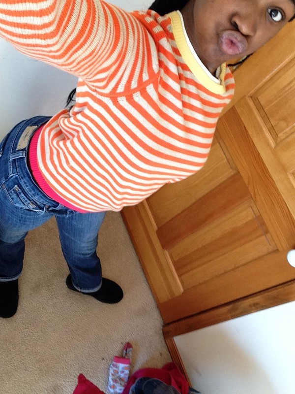 jewels pearl pink orange jeans tommy hilfiger stripes sweater ugg boots pants shoes