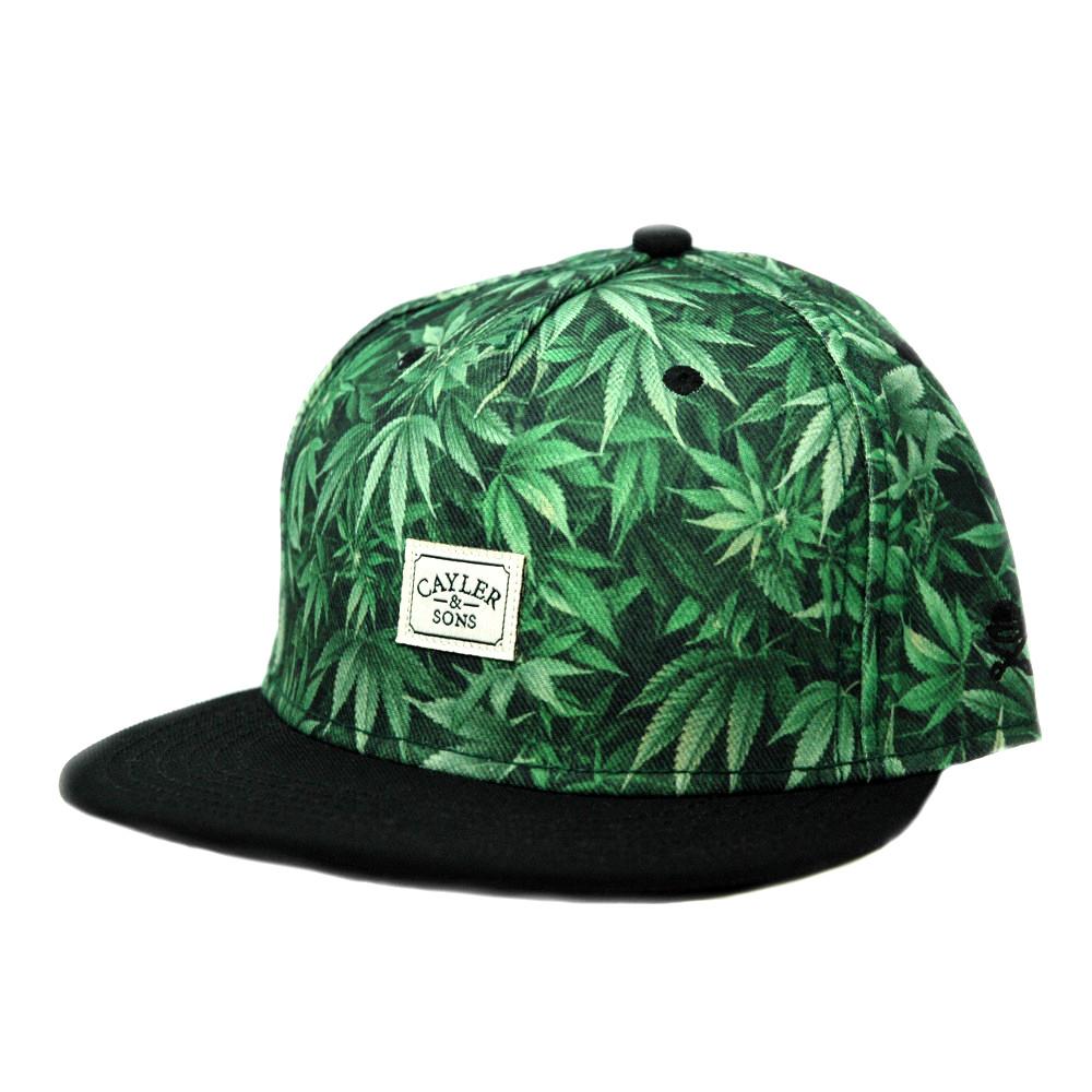 Cayler Sons Cannabis Hanf Snapback Cap Green Black | eBay
