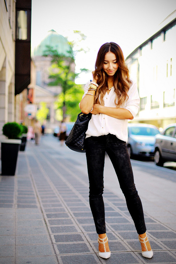 flirting with fashion blouse jeans shoes bag
