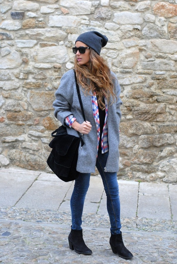 stella wants to die hat coat shirt jeans shoes bag