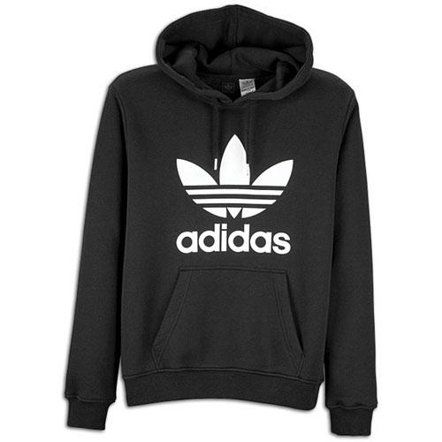 adidas Originals Trefoil Pull Over Hoodie - Men's - Casual - Clothing - Black/White