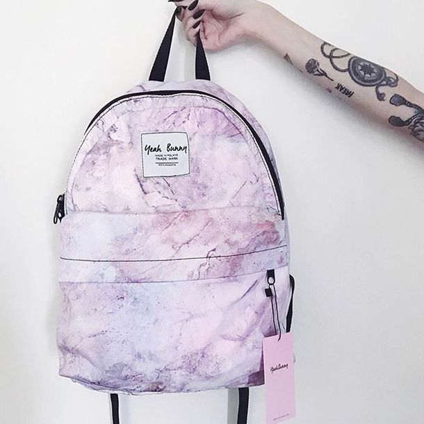 bag, yeah bunny, marbe, pink, pastel, backpack - Wheretoget
