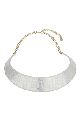 White Snake Print Collar - Necklaces - Jewelry - Bags & Accessories- Topshop USA