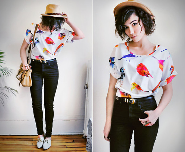 blouse fibrant birds