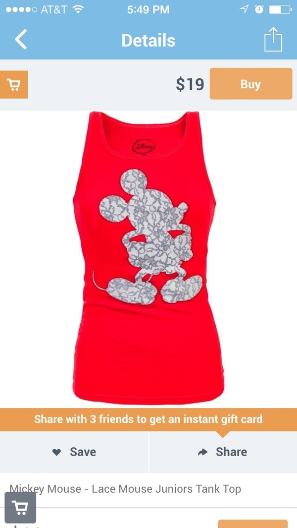 t-shirt red mickey mouse disney