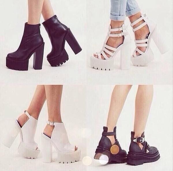 shoes cute heels sandals platform sandals