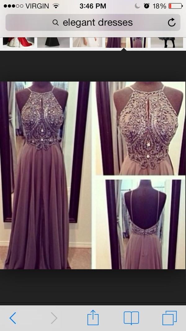 dress sequin dress elegant open back long prom dress wedding dress