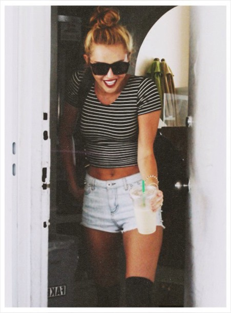 shorts miley cyrus high wasted shorts miley cyrus miley cyrus bun old miley High waisted shorts white denim shorts indie hipster shorts hippie