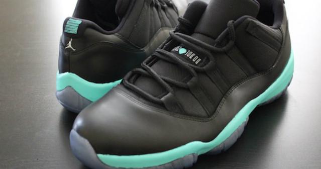 "Air Jordan 11 Low ""Black Tiffany"" Custom | Sneaker Bar Detroit"