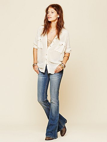Free People  5 Pocket Skinny Flare at Free People Clothing Boutique