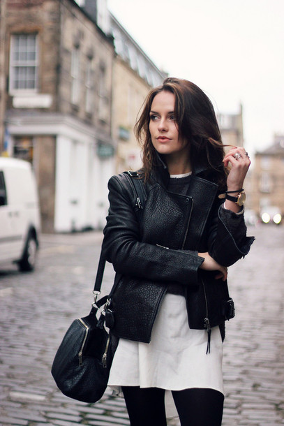 the little magpie blogger black jacket