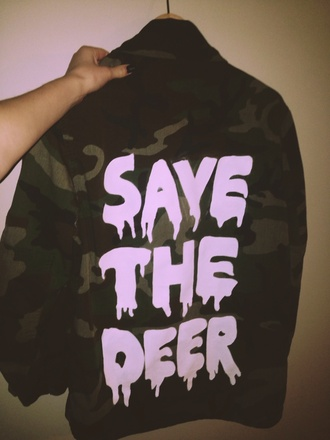 jacket hippie blood winter outfits tumblr outfit tumblr girl antlers deer tank hunting t- shirt half sleeve camo jacket flashes of style fashion style deer