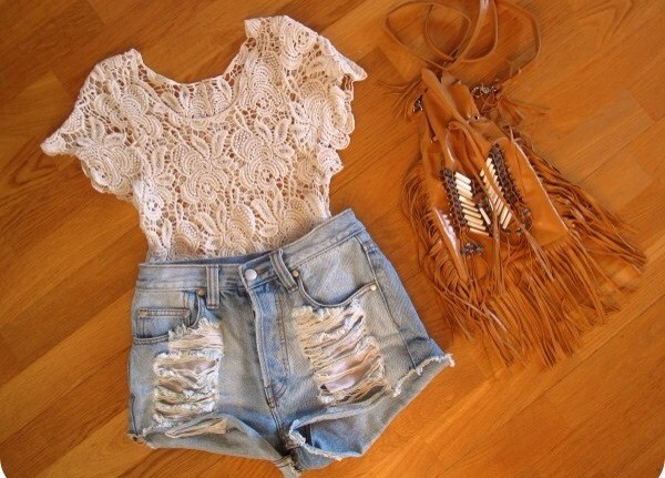 blouse High waisted shorts hippie summer indie shorts bag