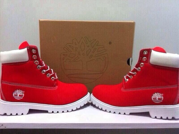 Shoes Red White Timberlands Red Timberlands