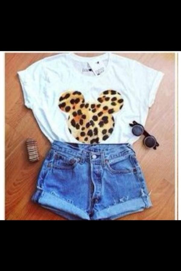 shirt leopard print leopard print disney