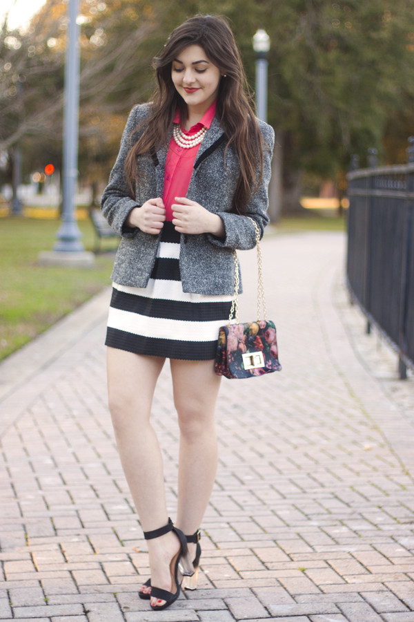 a walk in the park jacket blouse skirt shoes jewels