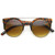 Contemporary Designer Retro Circle Super Half Frame Flat Bar Sunglasse                           | zeroUV