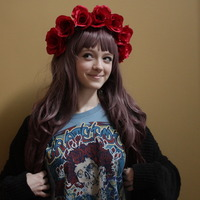 Albino  | Large Red Floral Headband | Online Store Powered by Storenvy