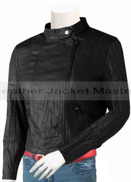 jacket girlsfashion womenswear style leather jacket