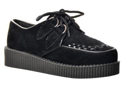 Platform Creeper: Black Sde - £25.00 - Flats from Peppermint