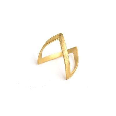 V-ring mat, forgyldt sølv - Forgyldt Sølv - Ringe